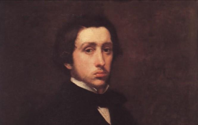 Edgar Degas, auto-retrato. Óleo sobre tela (1855)