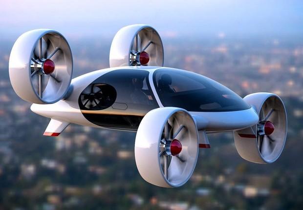 Carro voador da startup russa Bartini (Foto: Reprodução/Twitter)