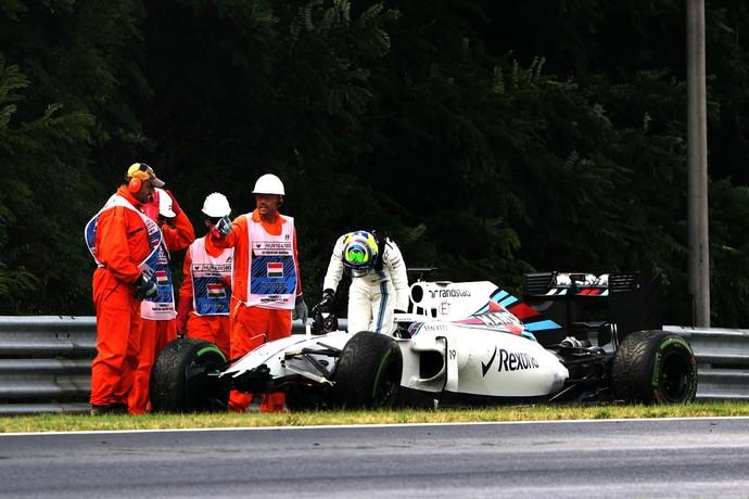 Felipe Massa bateu no treino classificatório para o GP da Hungria (Foto: Getty Images)