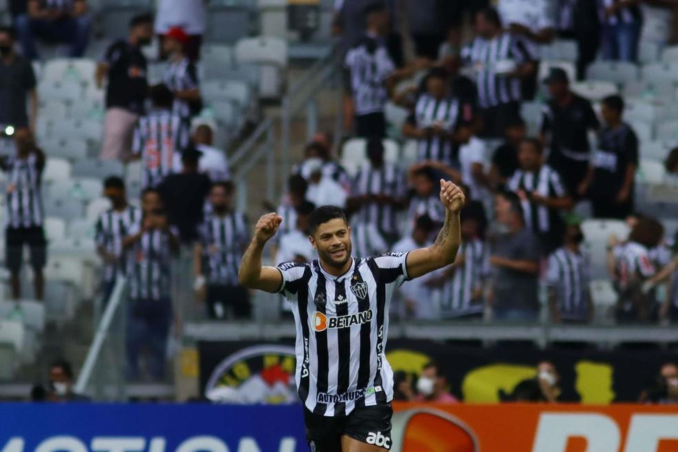 Hulk comemora em Atlético-MG x Ceará — Foto: Viviane Moreira/Futura Press