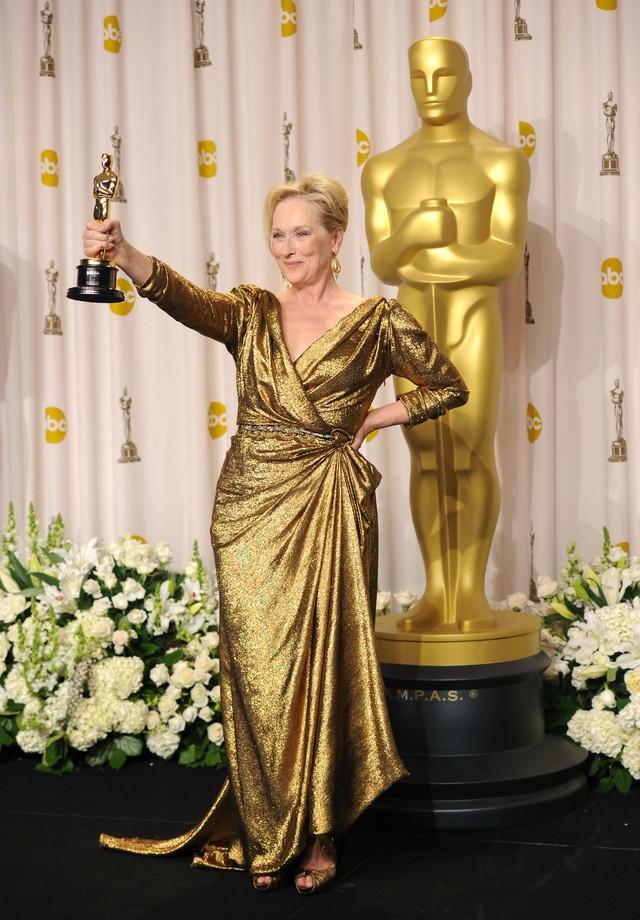 Meryl Streep de Lanvin no Oscar 2012 (Foto: Getty Images)