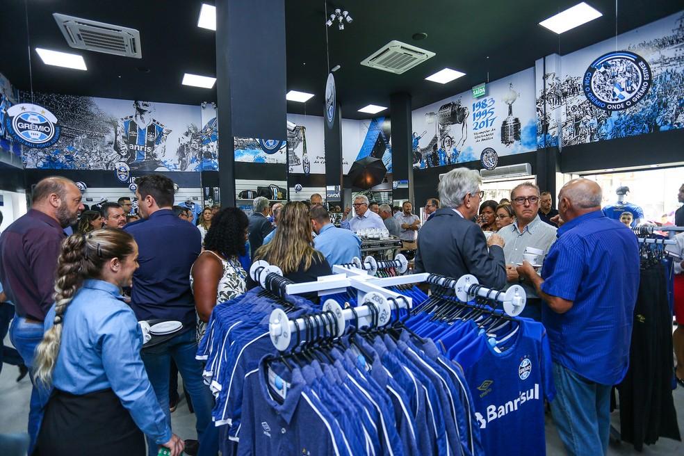 Espaço vende produtos oficiais do clube e deve atender o associado a partir de março — Foto: Lucas Uebel/Divulgação Grêmio