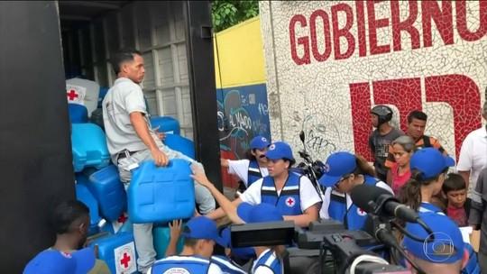 Cruz Vermelha começa a distribuição de ajuda humanitária na Venezuela