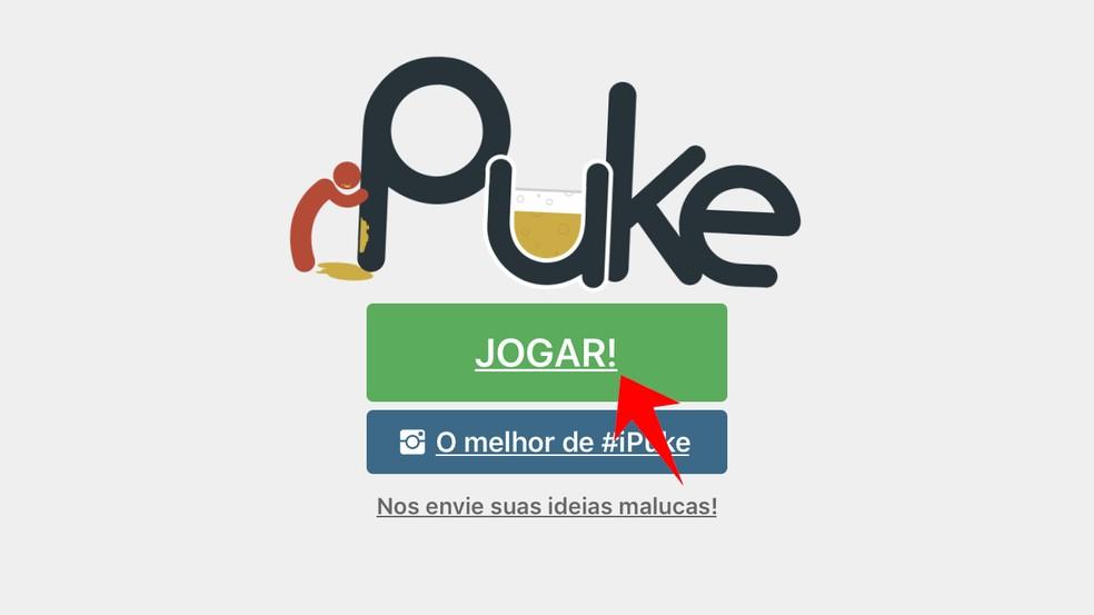 Inicie uma partida no iPuke — Foto: Reprodução/Rodrigo Fernandes