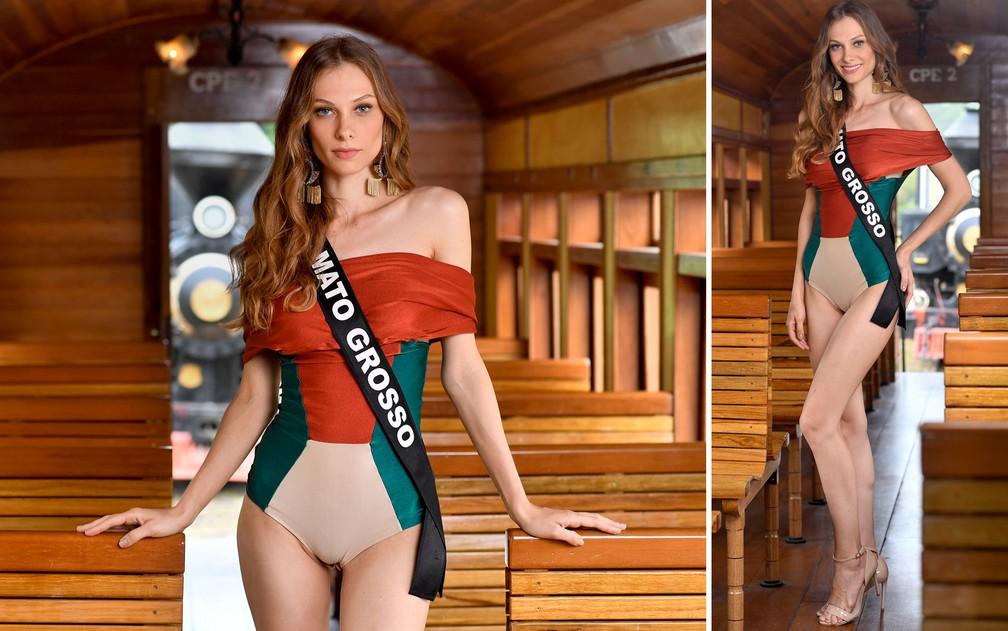 Ingrid Santin, 25 anos, modelo e estudante de odontologia, é a Miss Mato Grosso — Foto: Rodrigo Trevisan/Divulgação/Miss Brasil