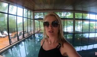 Ana Hickmann viajou pela primeira vez com a família desde o início da pandemia para um resort em Ibiúna, em São Paulo, e compartilhou com seus seguidores todos os momentos do passeio | Reprodução