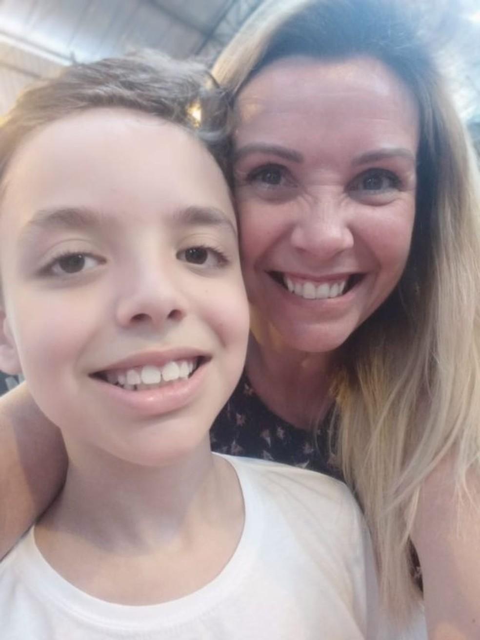 Quando Pedro Henrique começou a perder peso, a mãe, Erika, ficou alarmada — Foto: Arquivo pessoal