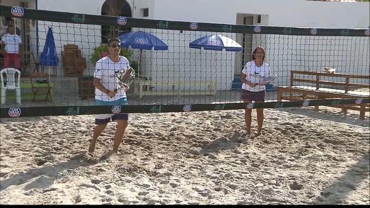 Globo Esporte: tênis de areia promete agitar o verão e ganha point na orla de Camboinha