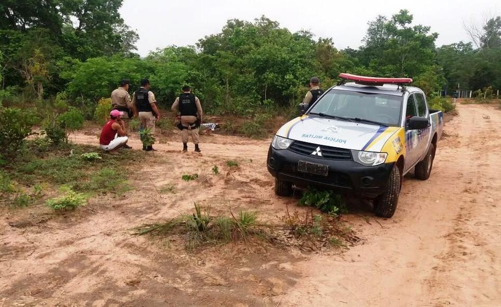 Corpo foi encontrado em Araguaína (Foto: AF Notícias/Divulgação)