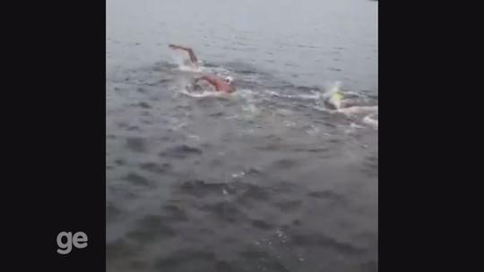 Glauco Rangel fica em terceiro na ultramaratona aquática 14 Bis