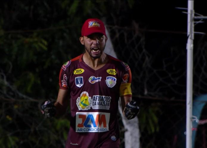 Wallef durante Afogados x Atlético-MG — Foto: Reprodução