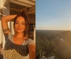 Carol Nakamura mostra vista de sua nova casa | Reprodução
