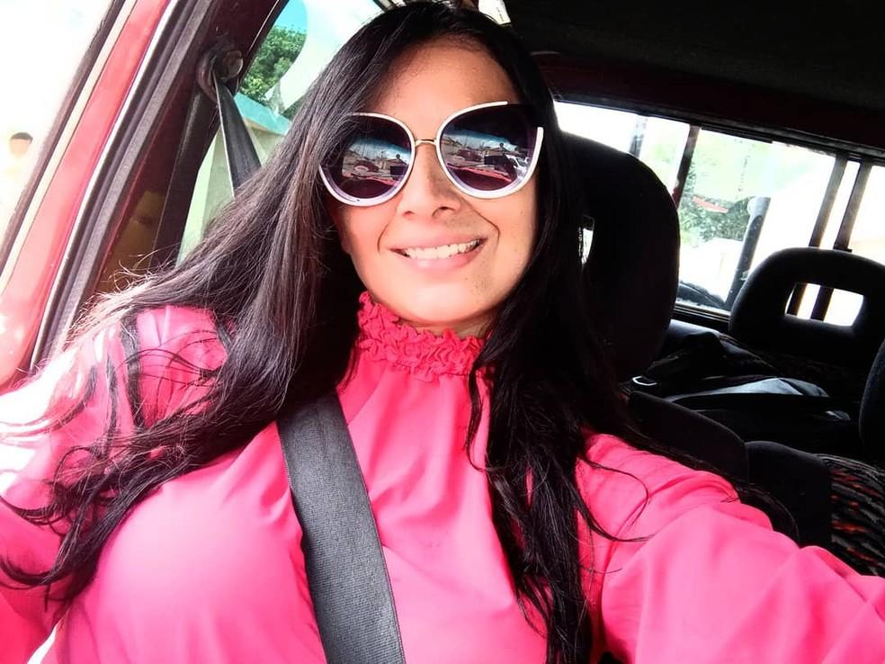 Advogada Izadora Santos Mourão, de 41 anos, foi encontrada morta dentro de quarto em Pedro II — Foto: Reprodução