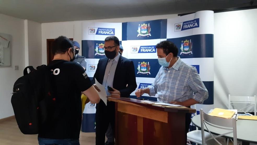 Gilson de Souza (DEM), prefeito de Franca (SP), é algo de investigações do Ministério Público — Foto: Stella Reis/EPTV