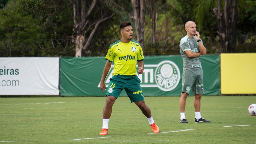 Gabriel Menino, do Palmeiras — Foto: Site do Palmeiras