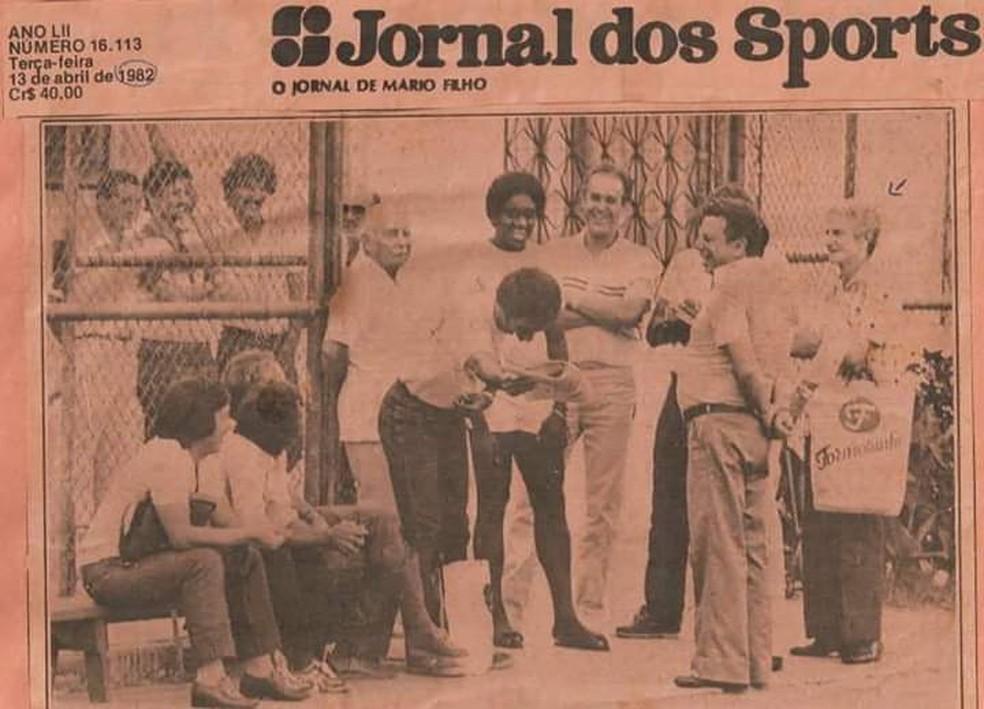 Peu guarda com orgulho os bons momentos de Flamengo — Foto: Arquivo Pessoal
