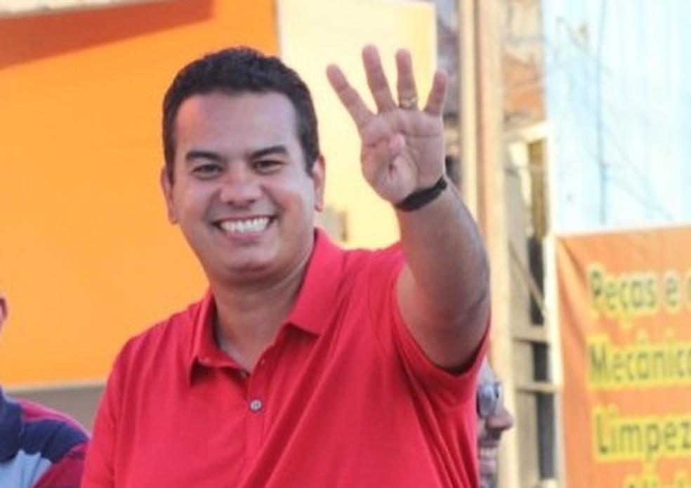 Klaus Lima é candidato à prefeitura de Escada pelo PSB — Foto: Reprodução/WhatsApp