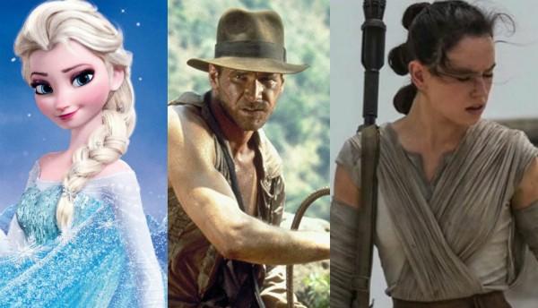 Frozen, Indiana Jones e Rey (Foto: Reprodução)