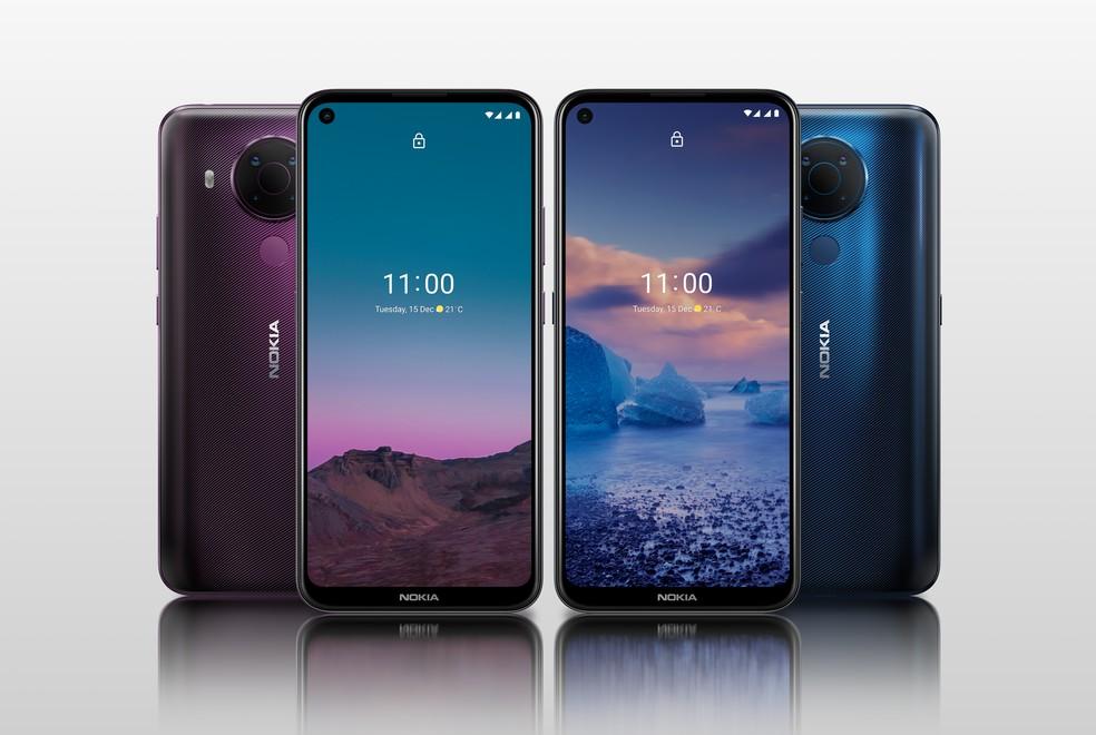 Nokia 5.4 desembarca no país por R$ 1.999 — Foto: Divulgação/Nokia