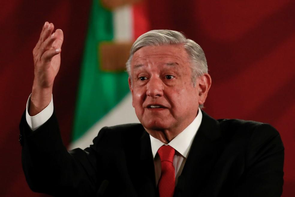 Andres Manuel Lopez Obrador, presidente do México, em imagem de arquivo — Foto: Henry Romero/Reuters