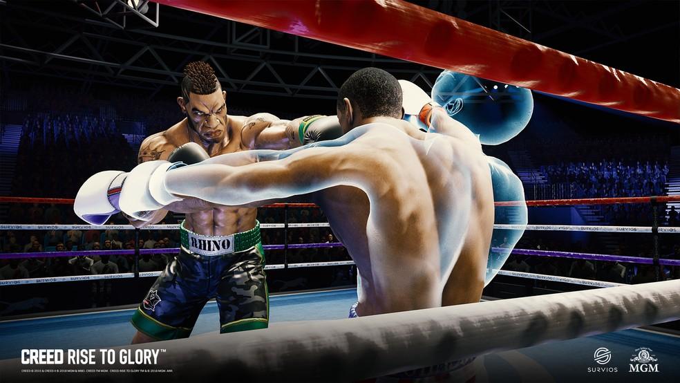Em Creed: Rise to Glory é possível encarar até adversários presentes nos filmes de Rocky Balboa — Foto: Divulgação/Survios