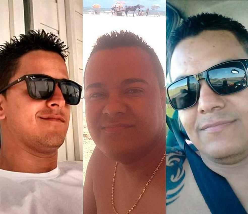 Os irmãos Bruno, Cláudio e Reures foram mortos quando estavam em um bar de Ribeira do Pombal (Foto: Reprodução/Facebook)
