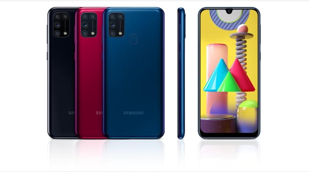 Galaxy M31 foi eleito o celular com melhor custo-benefício de 2020 — Foto: Divulgação