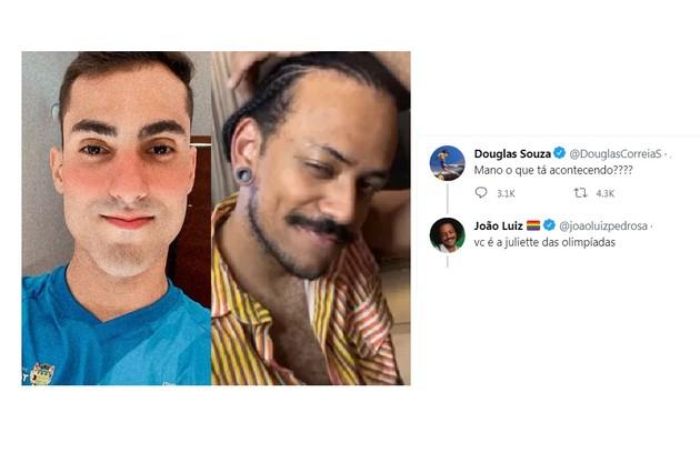 Apresentador do Globoplay, João Luiz brincou que Douglas é o novo fenômeno da internet (Foto: Reprodução)