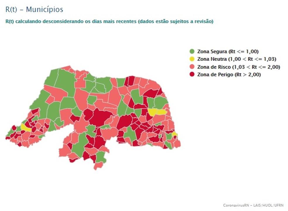 127 municípios estão em zonas de risco ou perigo no RN — Foto: LAIS