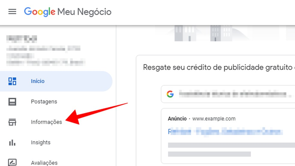 Google Meu Negócio permite alterar informações da empresa nas buscas — Foto: Reprodução/Paulo Alves