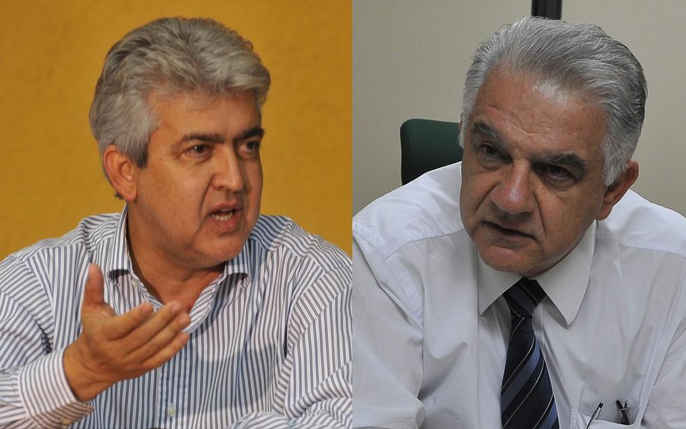 Rafael Barbosa e Elias Miziara, ex-secretários de Saúde do DF — Foto: Valter Campanato/ABr