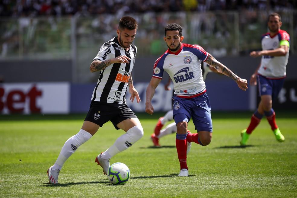 Nathan vem sendo primeiro volante no Galo e já fez quatro gols — Foto: Bruno Cantini / Clube Atlético Mineiro