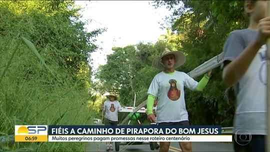 Fiéis da região participam de romaria a Bom Jesus de Pirapora