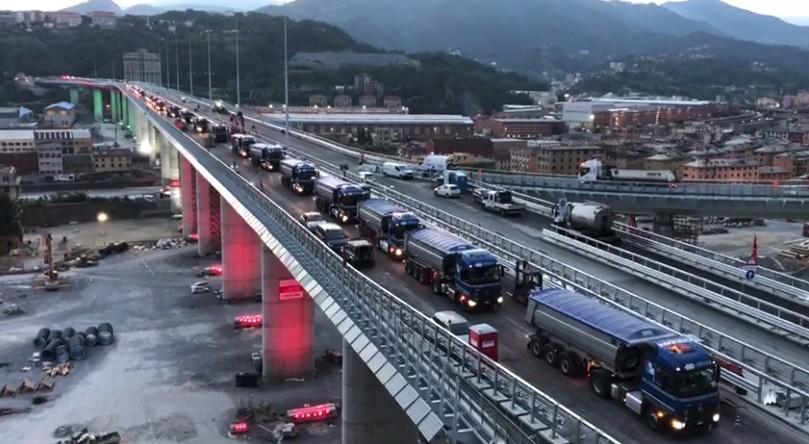 Ponte em Gênova reabre (Foto: Facebook/ Reprodução)