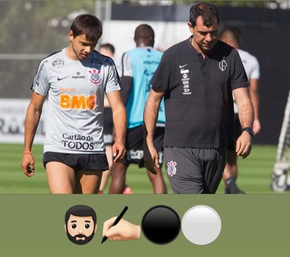 Romero em post enigmático ao lado de Fábio Carille — Foto: Instagram/Reprodução