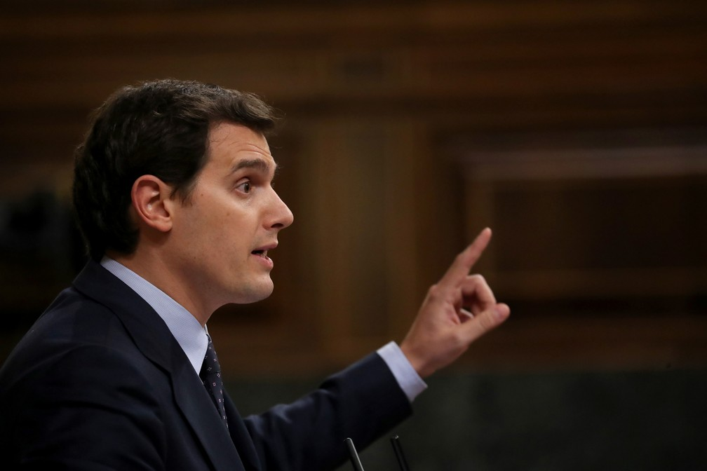 O líder do Cidadãos, Albert Rivera. — Foto: Susana Vera/Reuters