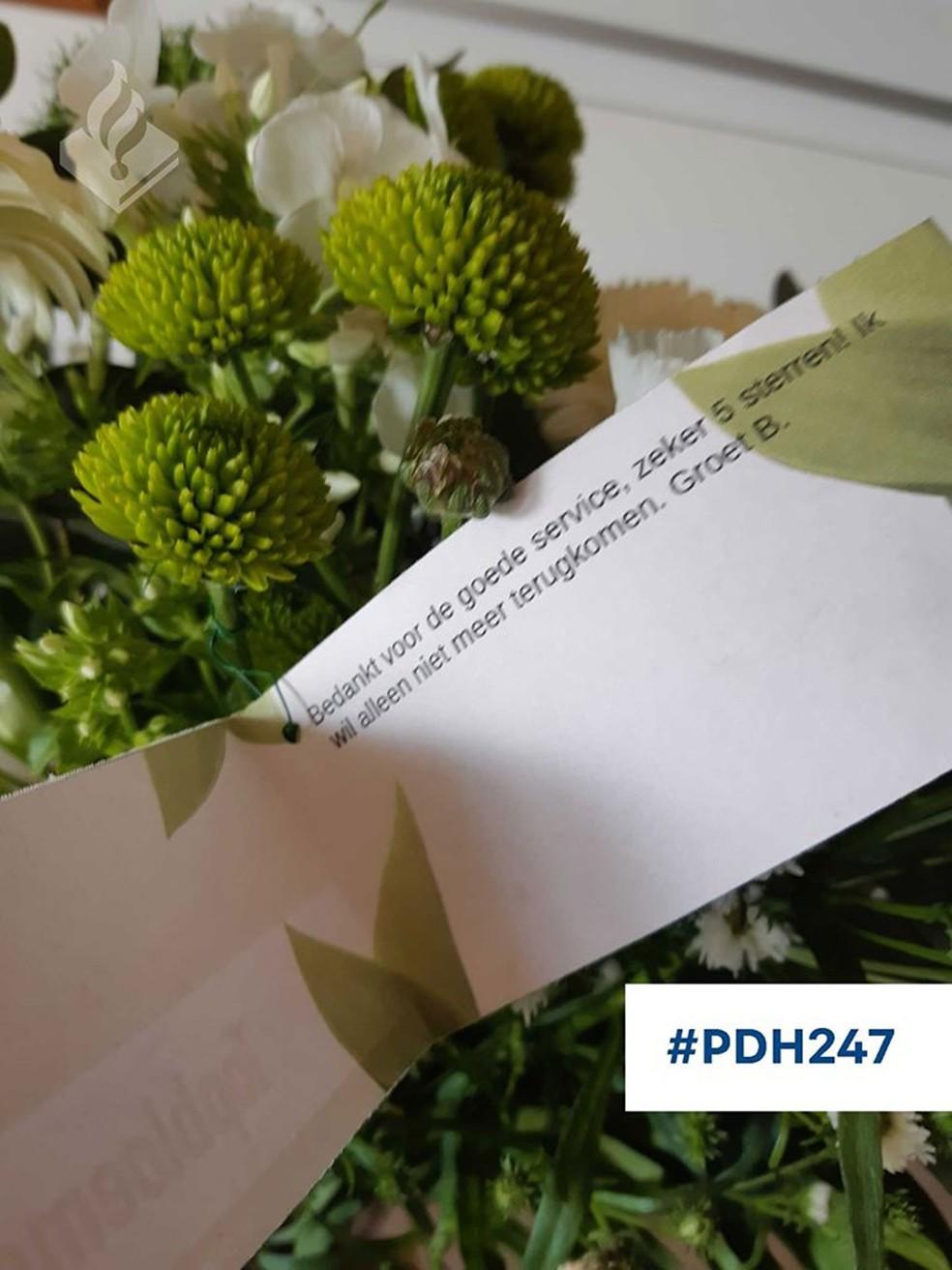 Ex-preso agradece por 'serviço 5 estrelas' que recebeu na prisão na Holanda — Foto: Politie Den Helder/Facebook
