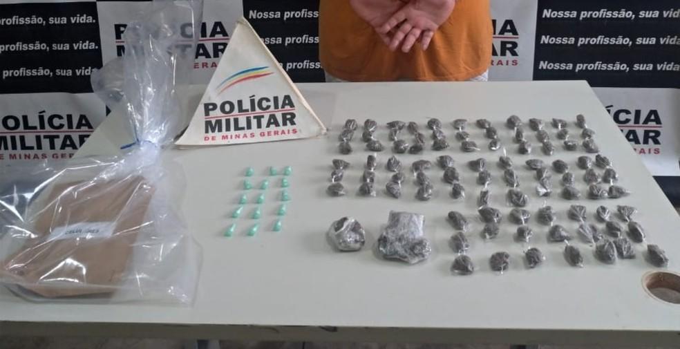 Drogas apreendidas na Operação Double Tap em Uberaba — Foto: Gaeco/Divulgação