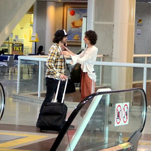 Carol Duarte reencontra Fiuk (Foto: AgNews)