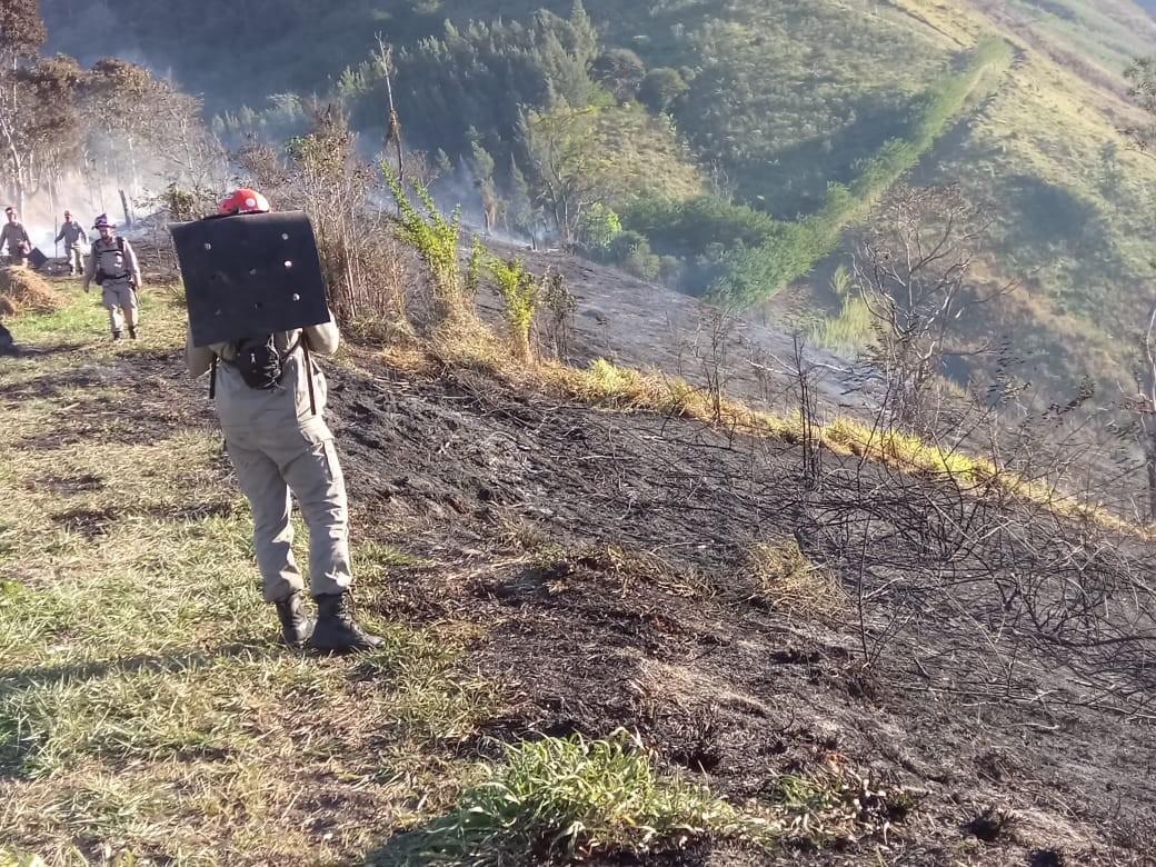 Incêndios destroem mais de 14 hectares de vegetação nesta terça-feira em Petrópolis, no RJ