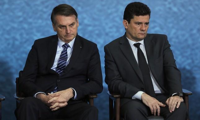 Jair Bolsonaro e Sergio Moro lançam campanha publicitária do pacote anticrime