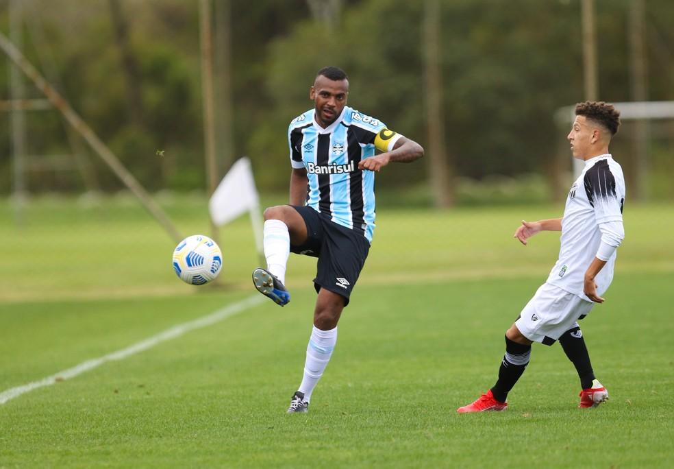 Leonardo Gomes voltou a jogar pelo Grêmio em jogo do sub-21 pelo Aspirantes — Foto: Rodrigo Fatturi/Grêmio