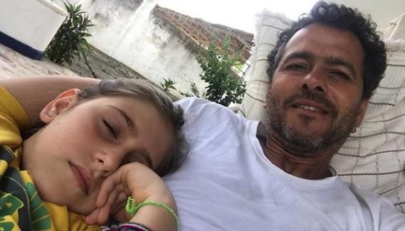 Marcos Palmeira com a filha, Julia (Foto: Reprodução Instagram)