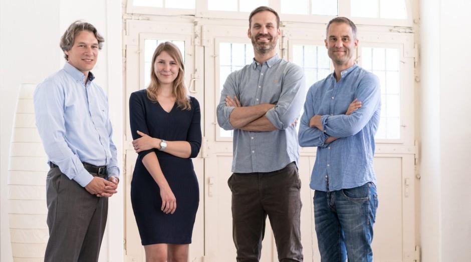 Pascal Koenig, Philipp Tholen, Peter Stein e Lea von Bidder, fundadores da Ava (Foto: Divulgação)