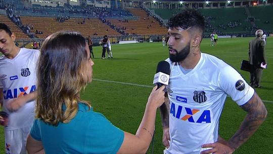 """Gabigol lamenta empate com o Vasco: """"A gente foi bem melhor que eles"""""""
