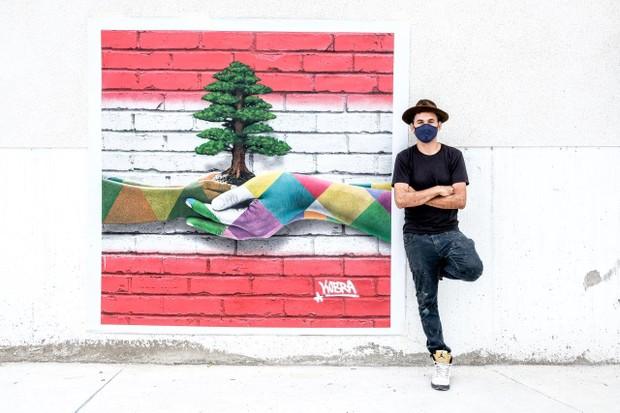Painel de Kobra sobre Líbano vai a leilão para ajudar vítimas de tragédia (Foto: Divulgação)