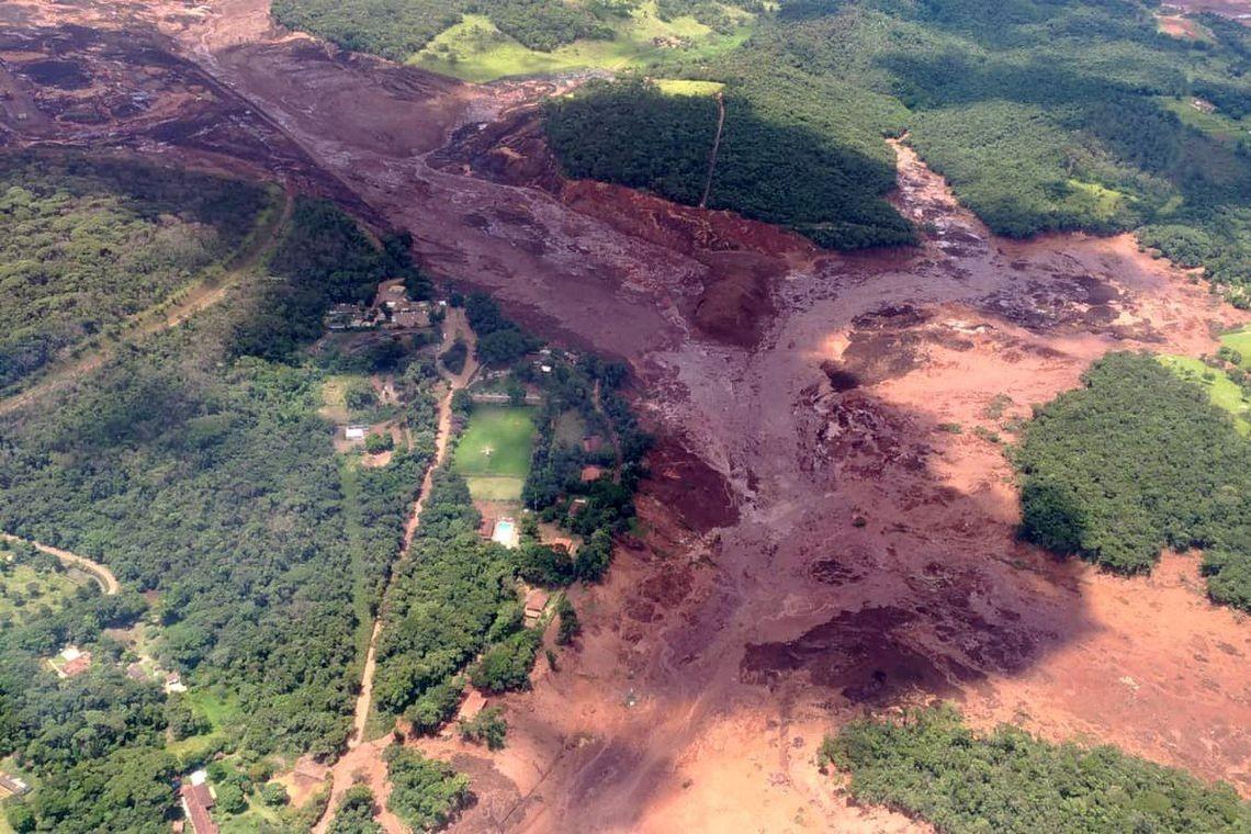 Extensão da tragédia em Brumadinho (Foto: Agência Brasil)