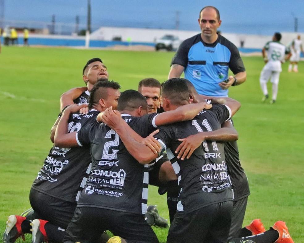 ABC venceu Palmeira de Goianinha por 1 a 0 e segue na segunda colocação do Campeonato Potiguar — Foto: Luciano Marcos/ABC