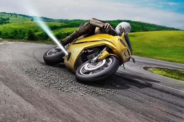 Bosch cria jatos de gás que evitam queda de motos