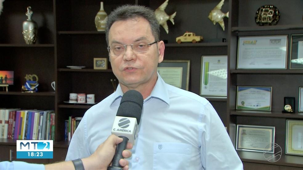 O presidente da Assembleia, Eduardo Botelho, foi quem contratou o ex-parlamentar. — Foto: TVCA/Reprodução